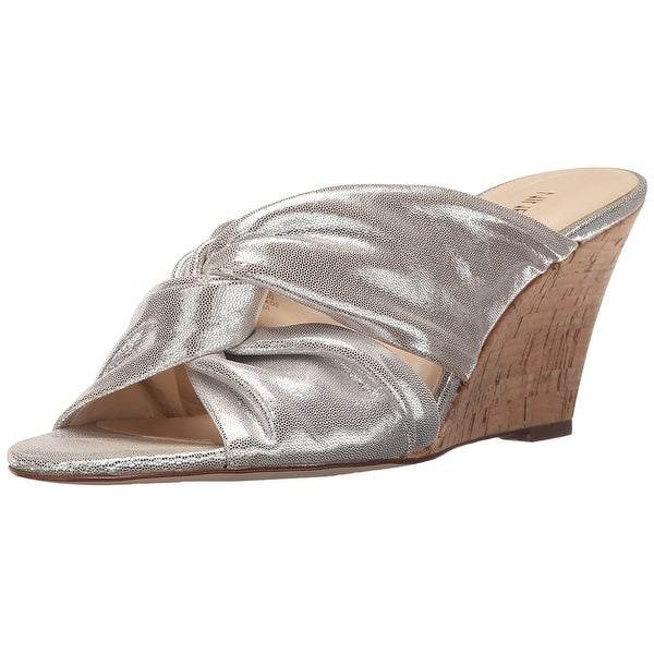 Nine West Womens Kessie Leather Open Toe Special Occasion Platform Sandals