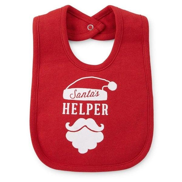 Carters Christmas Santa's Helper Teething Bib