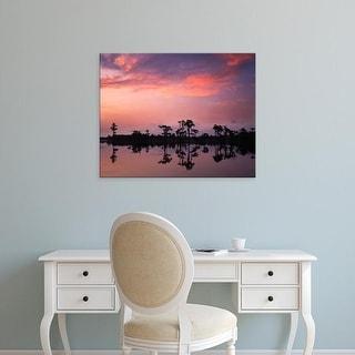 Easy Art Prints Charles Gurche's 'Bald Cypress At Dawn' Premium Canvas Art