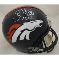 Brian Dawkins Autographed Denver Broncos Full Size Replica Helmet JSA