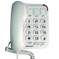 Teledynamics GO-GEE3104WH Big Button Phone with Speakerphone - White