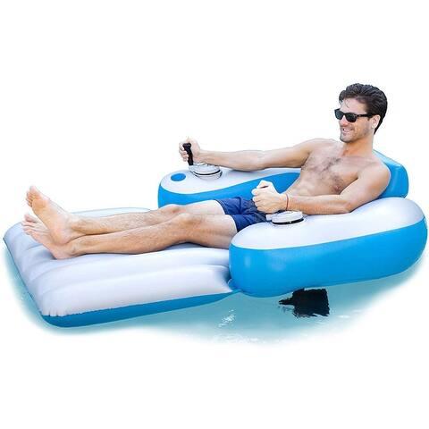 PoolCandy Splash Runner Motorized Pool Lounger 2021 Deluxe Edition .40 mm PVC