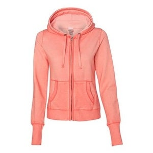 0151054f08c Shop Women s Oasis Wash French Terry Hooded Full-Zip Sweatshirt - Fusion  Coral - 2XL - Free Shipping Today - Overstock.com - 16235205