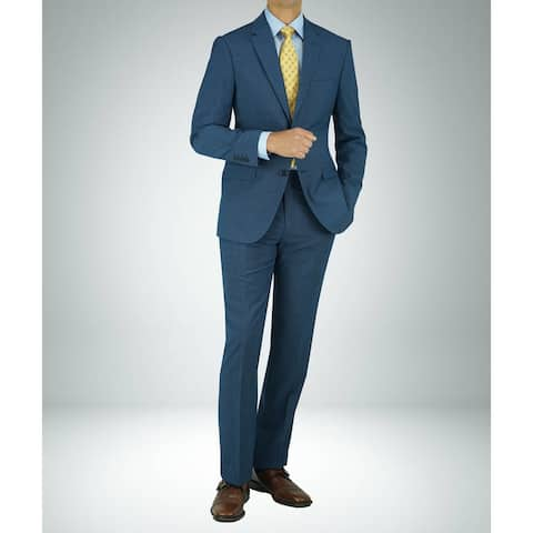 Carlo Studio Blue Mirco Check Modern-Fit Suit