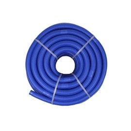 Blue Blow-Molded PE In-Ground Swimming Pool Cuttable Vacuum Hose - 147.5' x 1.25""
