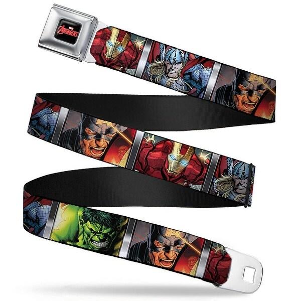 Marvel Avengers Marvel Avengers Logo Full Color Black Red White 4 Avengers Seatbelt Belt