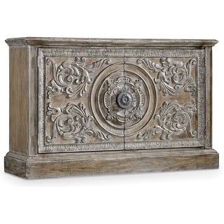 """Hooker Furniture 5701-85002  60"""" Wide Hardwood Cabinet from the True Vintage Collection - Soft Whitewashed Driftwood"""