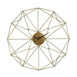 Sterling Industries 51-029 Angular Wirework Analog Wall Clock