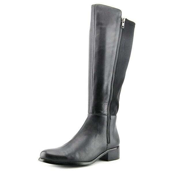 AquaDiva Karen Women Round Toe Leather Black Knee High Boot
