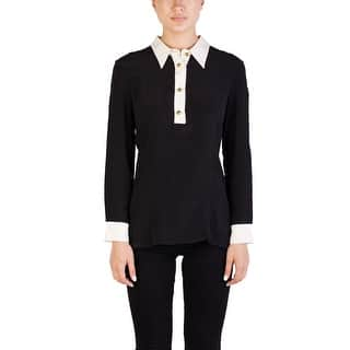 Prada Women's Silk Long Sleeve Blouse Two Tone - 44|https://ak1.ostkcdn.com/images/products/is/images/direct/80c39e764ccc38adb1c9c4c71dda49dd1b5651a1/Prada-Women%27s-Silk-Long-Sleeve-Blouse-Two-Tone.jpg?impolicy=medium