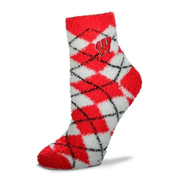 For Bare Feet NCAA Argyle Fuzzy Sleep Socks