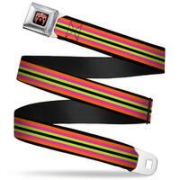 Ultimate Warrior Parts Unknown Mask Full Color Black Multi Color Ultimate Seatbelt Belt