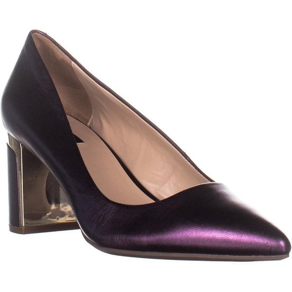 10f67cca9 Shop DKNY Elie Pointed-Toe Mid Pumps, Bordeaux - On Sale - Free ...