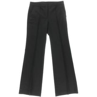 DKNY Womens Wool Blend Pintuck Dress Pants
