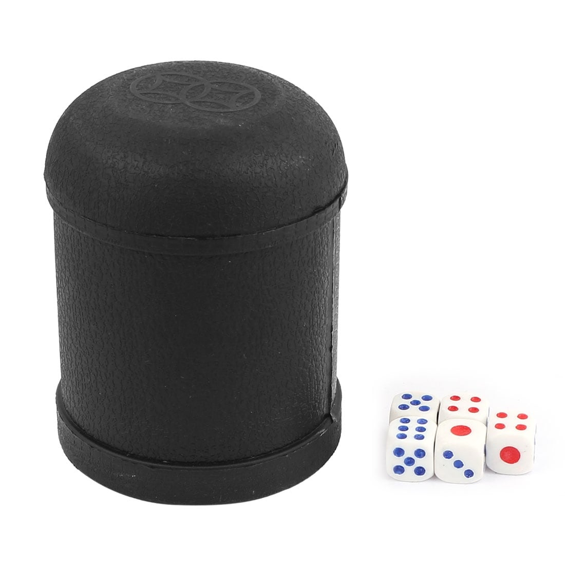 Dice Cup with 5 White Dices Shaking Cup Drinking Games Dices Set KTV Pub Casino Party Game Toy