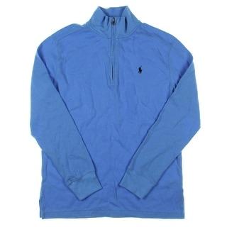 Polo Ralph Lauren Boys Pullover Sweater Partial Zip Waffle