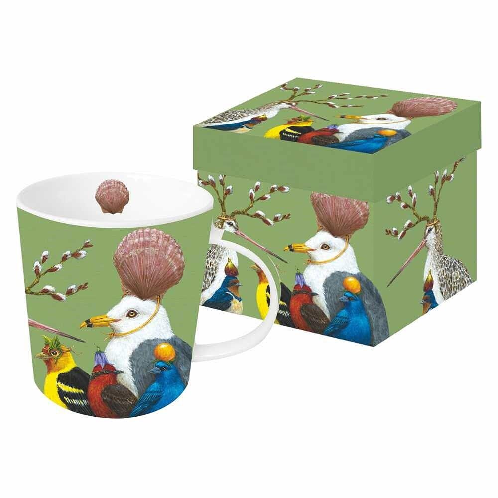 A Few Good Friends Mug Birds Wearing Hats by Vicki Sawyer-SALE!!