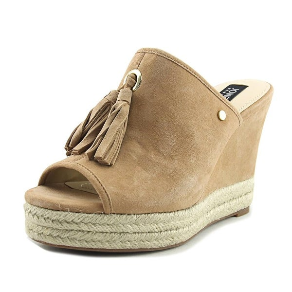 Jones New York Ariel Women Open Toe Suede Tan Wedge Sandal