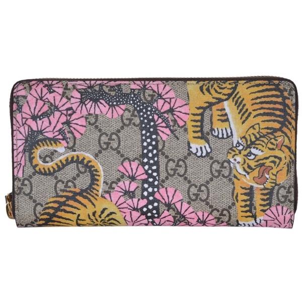 6e591a9c426 Gucci Women  x27 s 452355 GG Supreme Bengal Tiger Zip Around Wallet Clutch -