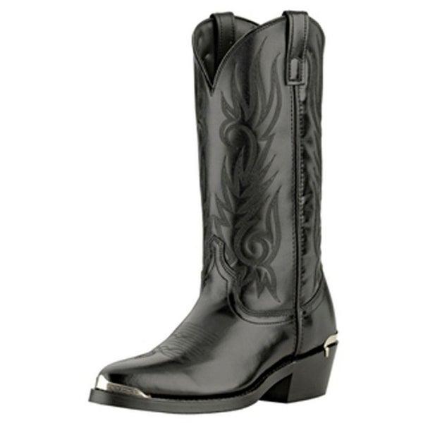 Laredo Western Boots Mens Cowboy McComb Trucker Round Toe Black