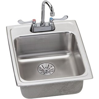 Elkay LRAD172065PDC Lustertone Kitchen Sink with Faucet and Perfect Drain