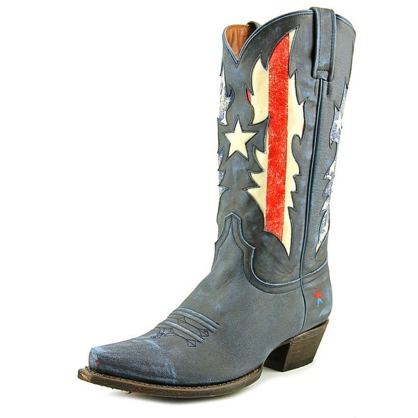 Redneck Riviera Lady Liberty Pointed Toe Leather Western Boot