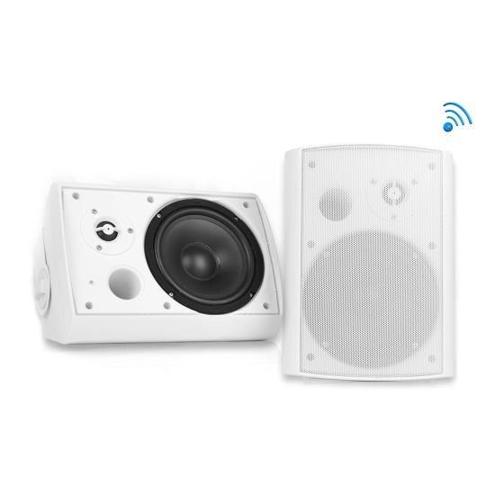 Wall Mount Waterproof & Bluetooth 5.25'' Indoor / Outdoor Speaker System, White
