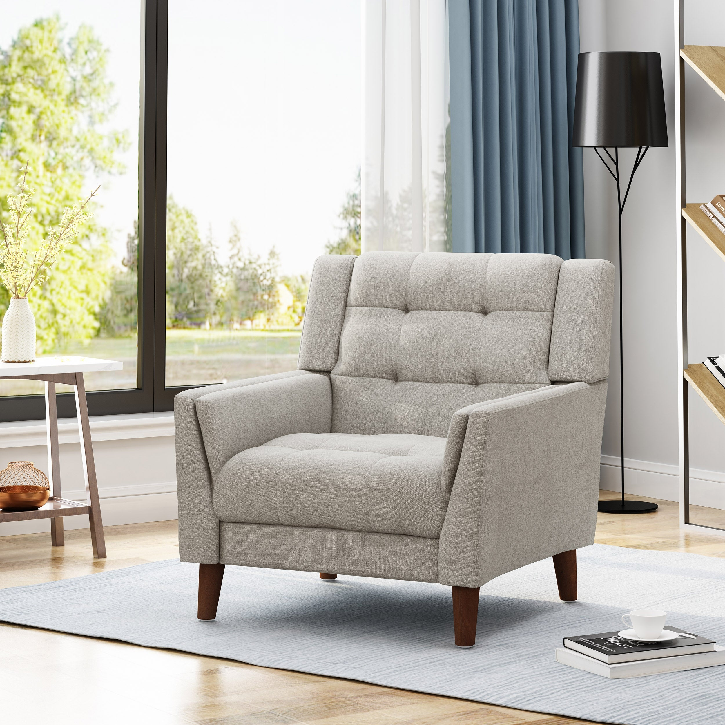 Picture of: Shop Black Friday Deals On Candace Mid Century Modern Armchair By Christopher Knight Home Overstock 22341227