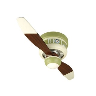 """Craftmade Sopwith Camel Youth Fans 42"""" 2 Blade Flush Mount Indoor Ceiling Fan - Blades, Remote and Light Kit Included"""