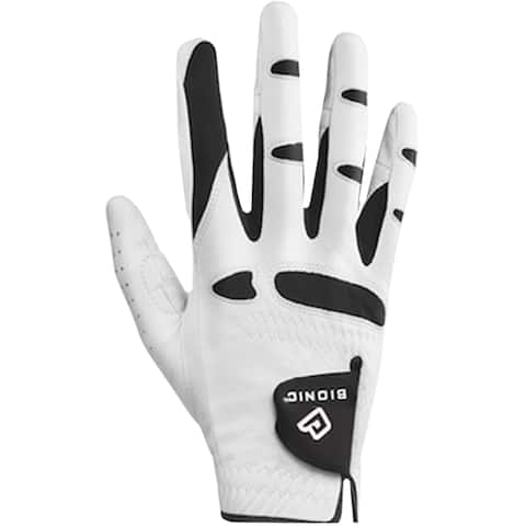 Bionic Men's StableGrip Natural Fit Right Hand Golf Glove - White/Black