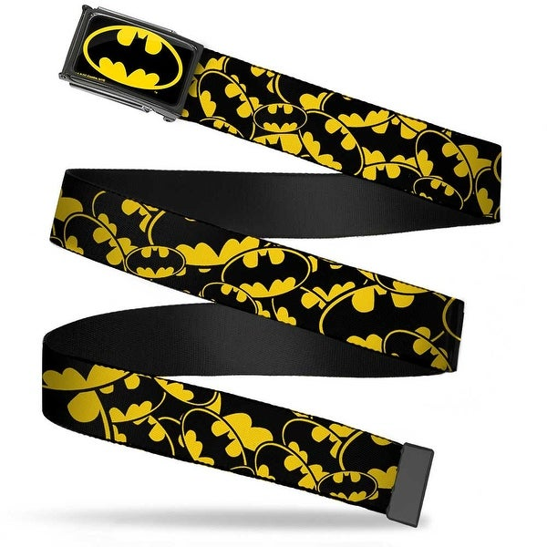 Batman Fcg Black Yellow Black Frame Bat Signals Stacked Yellow Black Web Belt