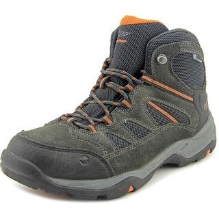 Hi-Tec Bandera Mid II WP Men Round Toe Leather Gray Hiking Shoe