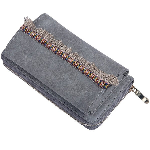 Mad Style Blue Boho Fringe Phone Wallet