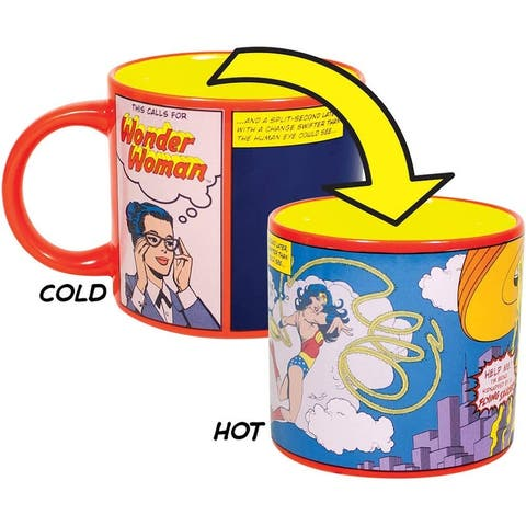 DC Comics This Calls for Wonder Woman Heat Changing Coffee Cup, 14oz