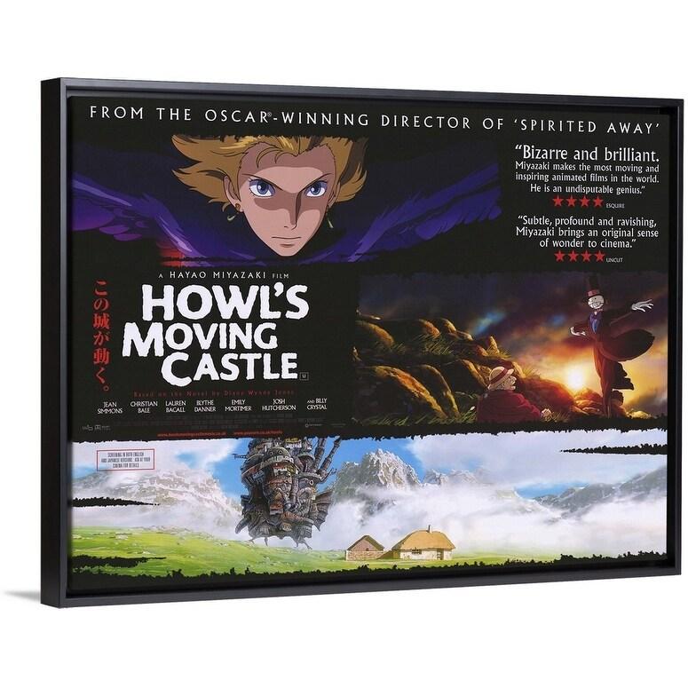 Shop Howl S Moving Castle 2004 Black Float Frame Canvas Art Overstock 25508067