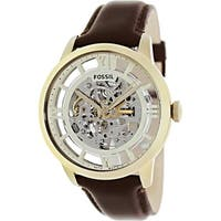 Fossil Men's Townsman  Brown Leather Automatic Fashion Watch