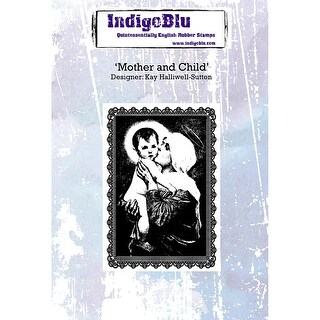 "Indigoblu Cling Mounted Stamp 5""X4""-Mother & Child"