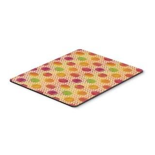 Watercolor Rainbow Dots & Sqiggles Mouse Pad, Hot Pad or Trivet