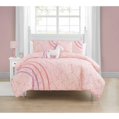 Madison Parker Rainbow Ruffle Soft Microfiber Mul-Piece Comforter Set