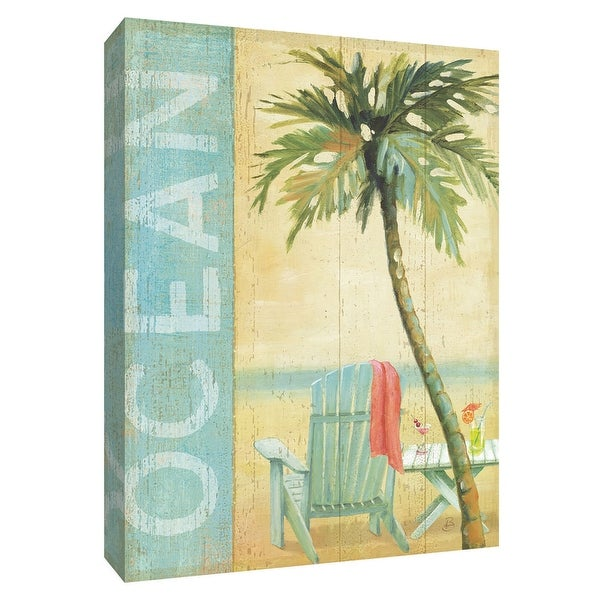 "PTM Images 9-154816 PTM Canvas Collection 10"" x 8"" - ""Ocean Beach II"" Giclee Beaches Textual Art Print on Canvas"