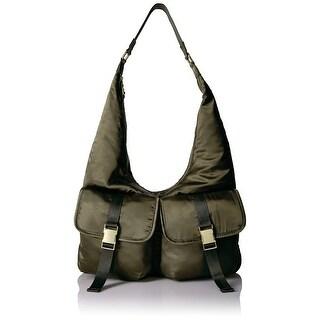 Steve Madden NEW Olive Green Cole Large Satin Hobo Handbag Purse