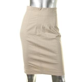 Catherine Malandrino Womens Twill Jacquard Pencil Skirt - S