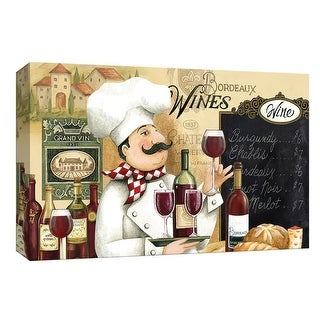 """PTM Images 9-148105  PTM Canvas Collection 8"""" x 10"""" - """"Chateau Wine"""" Giclee Wine Art Print on Canvas"""