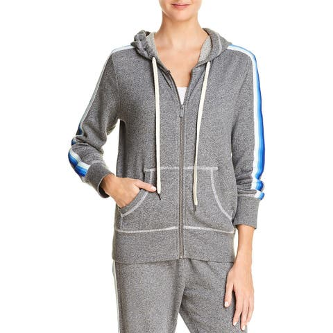 Splendid Womens Hoodie French Terry Stripped
