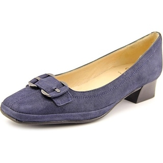 Amalfi By Rangoni Mora N/S Square Toe Suede Heels