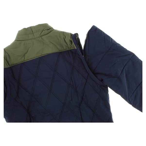 179e2e06 Shop Adidas Mens Two in One Padded Snow Jacket Navy Blue - Navy Blue ...