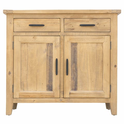 "Ashford 39"" Reclaimed Wood Storage Sideboard with Two Drawers and Doors"