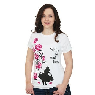 Alice In Wonderland All Mad Here Womens T-Shirt