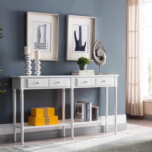 Double Hall Console/Sofa Table with Display Shelf. Opens flyout.