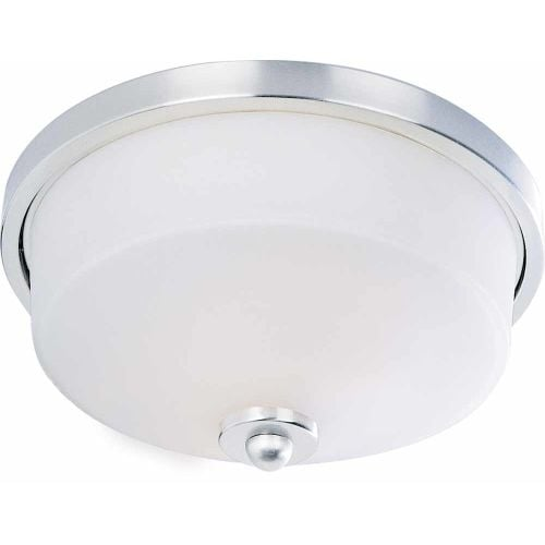 Volume Lighting V6862 Philippi 2 Light Flush Mount Ceiling Fixture With White Gl